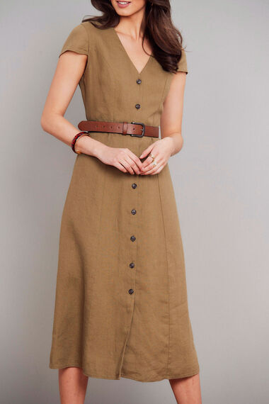 Salvari Linen Button Down Dress