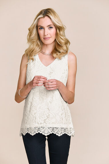 Sleeveless Lace Shell Top