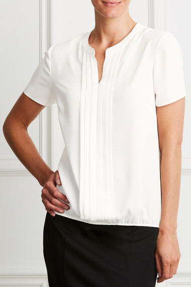 Plain Pleat Front Blouse