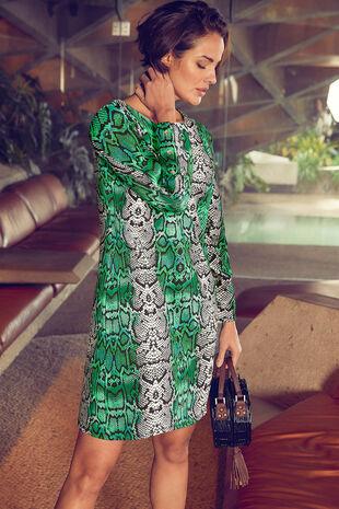 Reptile Print Ponte Dress