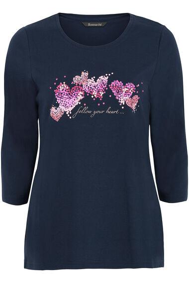 Follow Your Heart Print T-Shirt