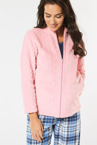 Cable Fleece Bed Jacket