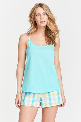 Aqua Check Cami and Short Set