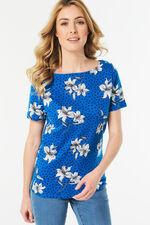 Boat Neck Lily Spot T-shirt