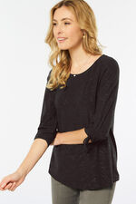 Glitter Detail Ruched Top
