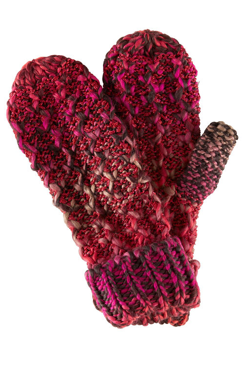 Lurex and Cable Knit Mitten