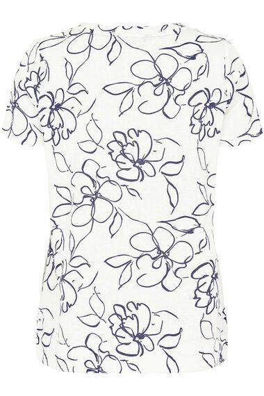 Stencil Floral Texture Top