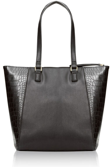 Crocodile Trimmed Shoulder Bag