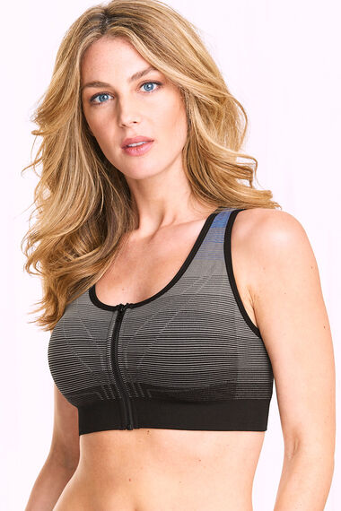 Zip Front Medium Control Sports Bra