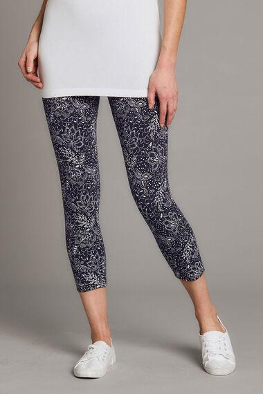 Floral Printed Crop Legging