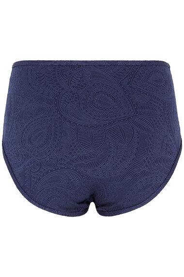 High Waisted Bikini Textured Brief