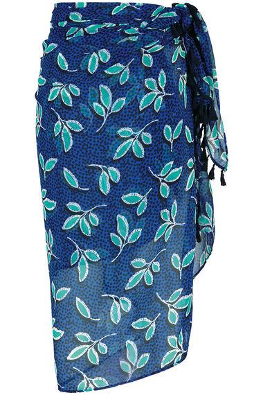 Blue Leaf Batik Sarong