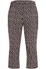 Geo Print Brushed Cotton Crop Trouser