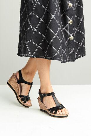 Cushion Walk Portofino Buckle Wedge Sandal