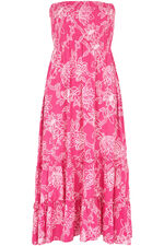 Maxi Shirred Dress with Tiers