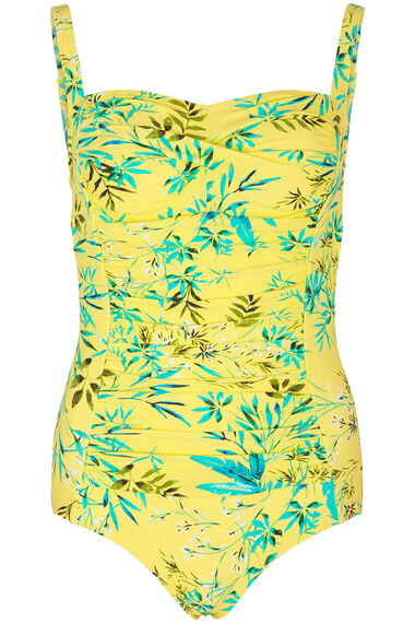 Ruched Swimsuit Watercolour Jungle Print