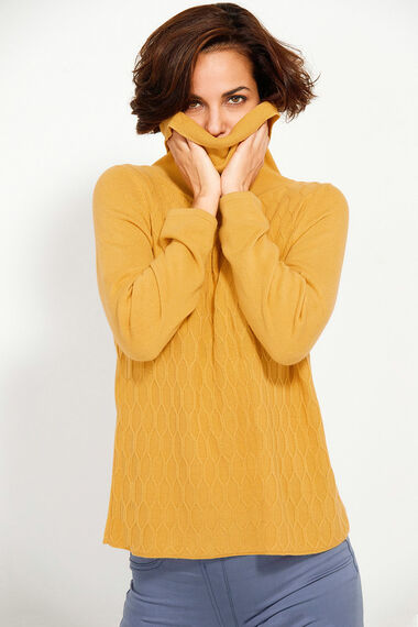 Supersoft Textured Cowl Neck Jumper