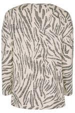 Zebra Boxy Button Top