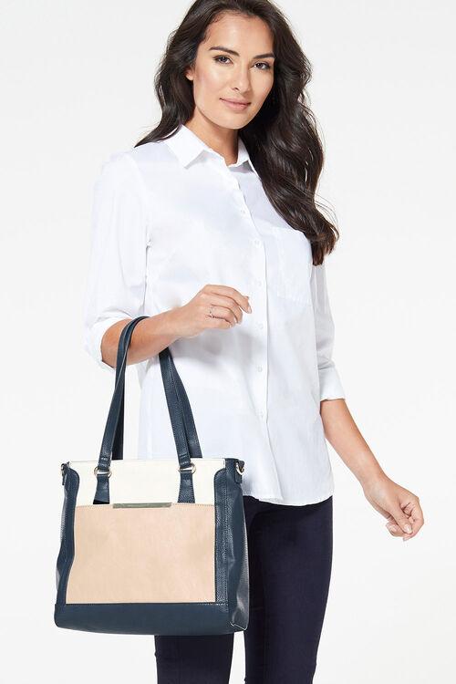 3 Tone Shoulder Bag with Strap