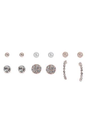 Muse Rhinestone & Pearl Mixed Multi-Pack Earrings
