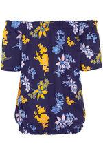 Floral Printed Gypsy Top