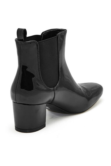Comfort Plus Patent Ankle Boot