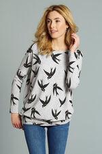 Stella Morgan Swallow Print Soft Touch Sweater