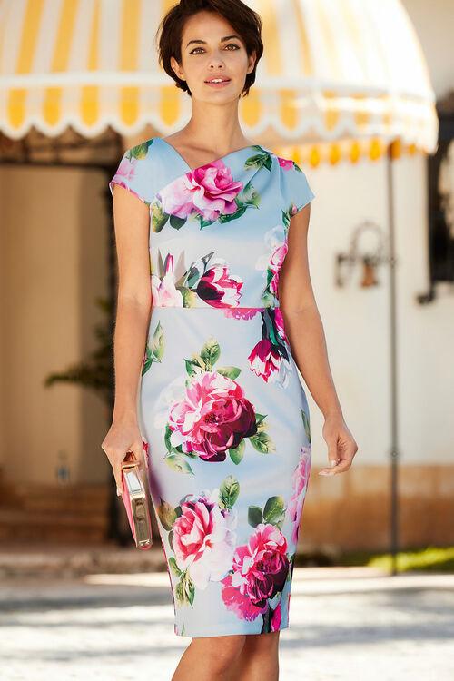 Asymetic Neckline Shift Dress