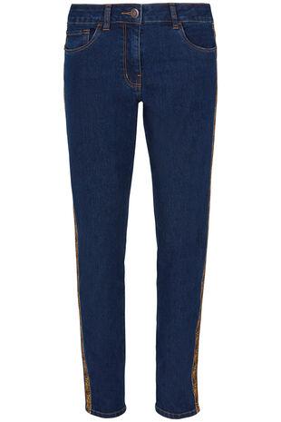Animal Side Stripe Jean