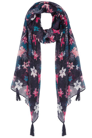 Colour Pop Tropical Print Scarf