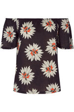 Daisy Print Gypsy Top