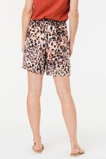 Leopard Print Belted Short