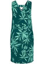 Palm Print Linen Dress