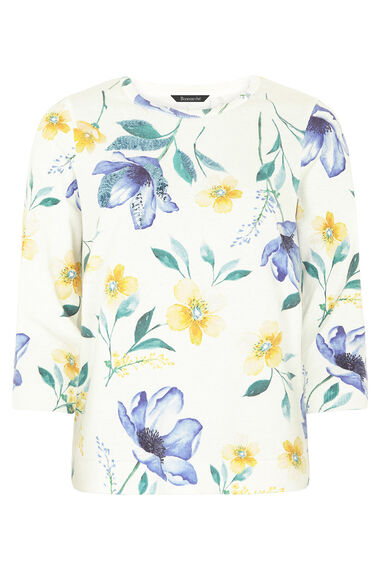 Floral Printed Jumper With Sequin Detail