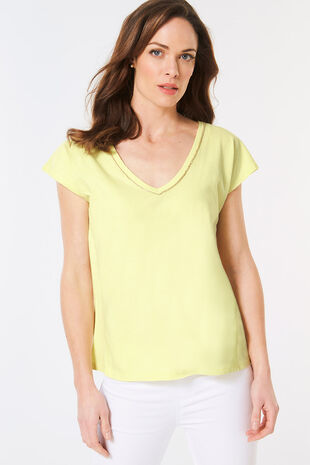 Diamante Neckline T-Shirt