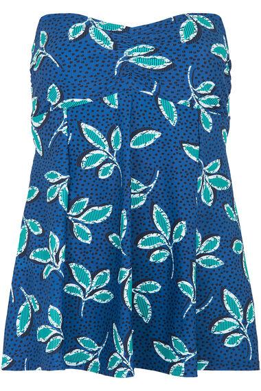 Blue Leaf Print Swimdress