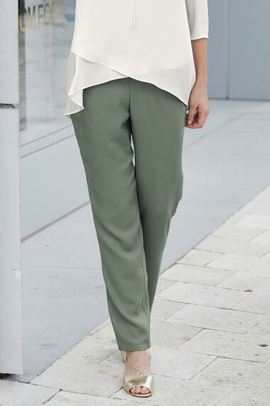 Casual Textured Tapered Trousers