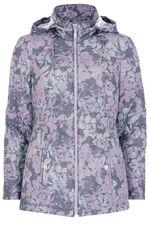 Floral Print Padded Coat