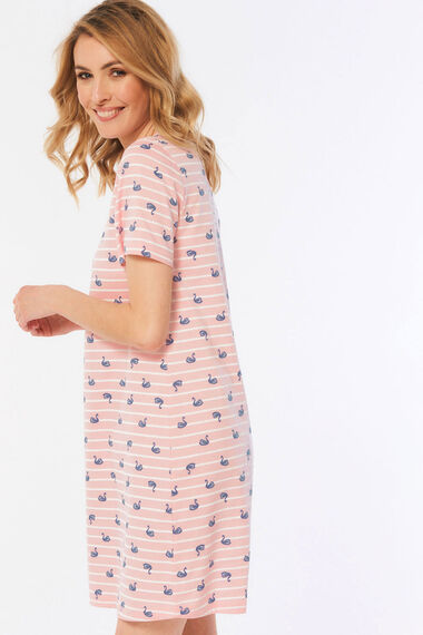 Swan Stripe Nightdress