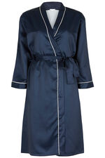 Navy Spot Jacquard Robe