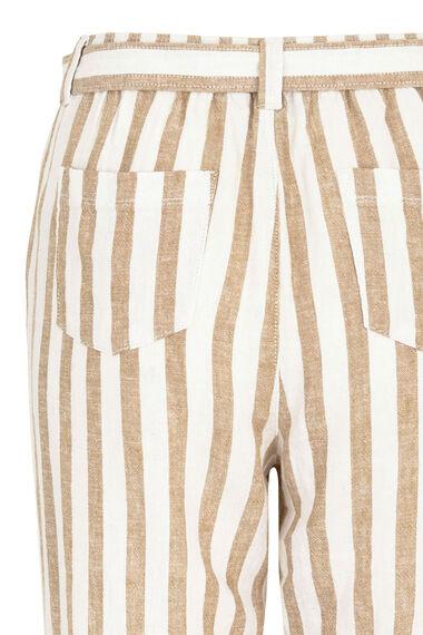 Stripe Tapered Linen Blend Trouser