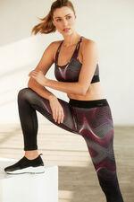 NVC Activewear Wave Pattern Sports Bra