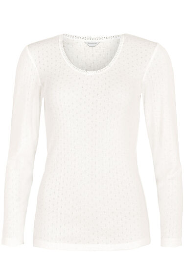 Ivory Thermal Long Sleeve Top