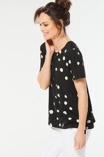 Bow Back Spot Print T-Shirt