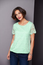 Lace Top with Jersey Back