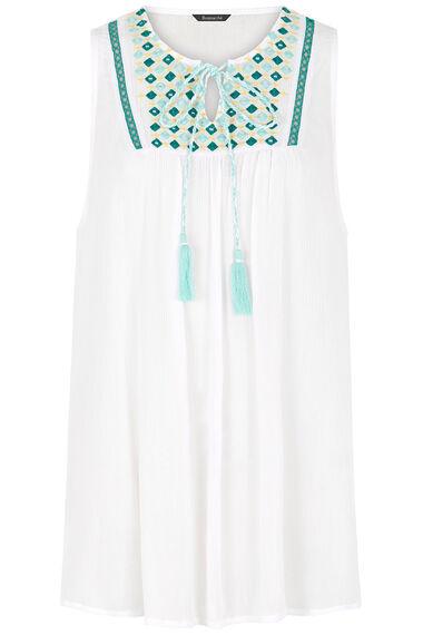 Embroidered Mirror Vest Top