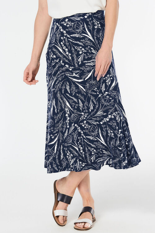 Sketch Floral Maxi Skirt