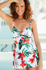 Floral Twist Front Swimdress