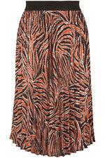 Grace By Eda Pleated Animal Print Skirt