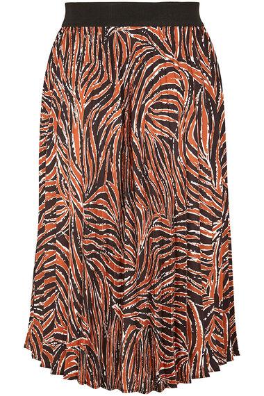 Grace By Eda Pleated Animal Skirt Print Skirt